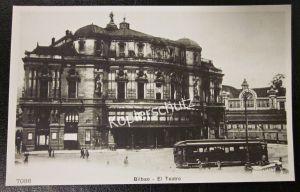 AK Foto Abzug Replica Straßenbahn um 1900 in Bibao El Teatro Spanien