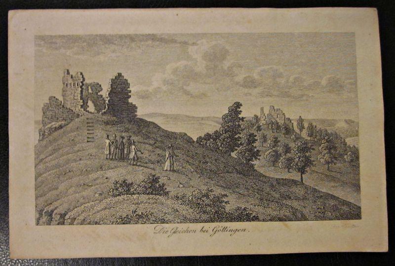 Die Gleichen Kupferstich Zeichnung Göttingen Signiert Umseitig beschriftet Datum 1834