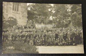 Altes Foto Karte Studenten Professoren Lehrer Bruderschaft ca. 1922 Erlangen
