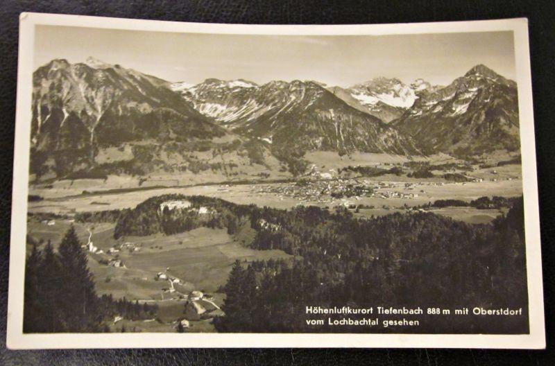 Alte Foto Karte Tiefenbach Oberstdorf Lochbachtal Bayern Oberallgäu gel. 1934