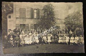 Altes Foto Karte Studenten Professoren Lehrer Bruderschaft 1922 Erlangen