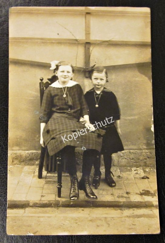 Alte Foto Karte um 1920 Kinder Mädchen Raum Erlangen - Coburg