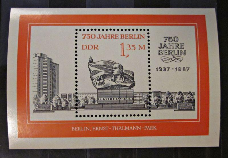 Briefmarke Bogen Block 750 Jahre Berlin DDR 1987 Ungebraucht Gummiert.