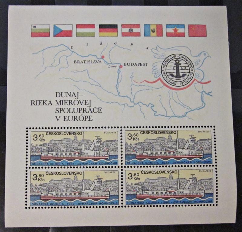 Briefmarken Block Tschechoslowakei 1982 Ungebraucht Gummiert
