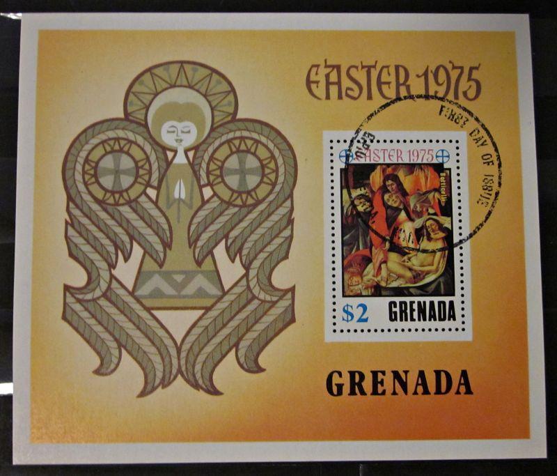 Briefmarken Block Karibik Grenada Ostern 1975