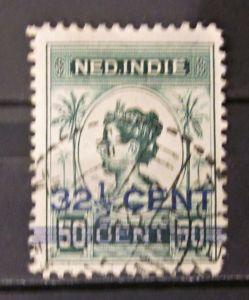 Briefmarken Ned Indien Niederlande Kolonien mit Aufdruck Königin Wilhelmina