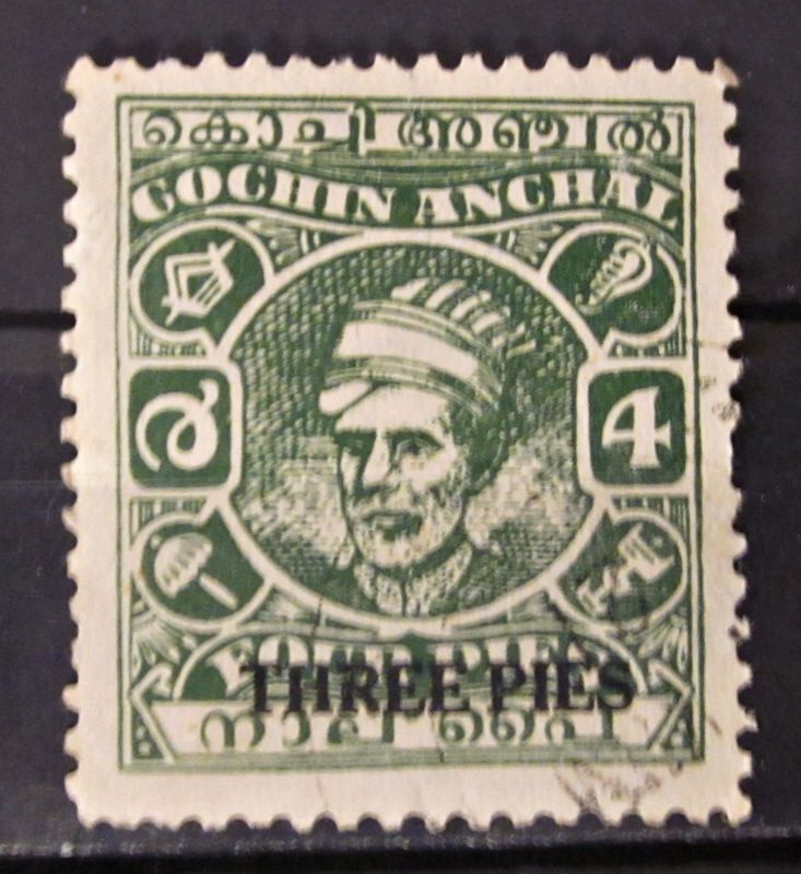Briefmarken Asien Indien INDIA COCHIN Maharadjah Ravi Varma I 1946