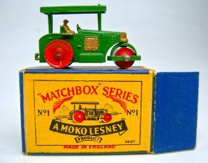 Matchbox Nr. 1A Road Roller von 1953 in Box.