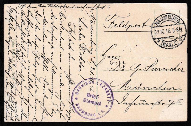 Naumburg OSt. NAUMBURG (SAALE) *g 21.10.16 + Briefstempel