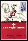 Sonderstempel 3. CONV. FILATELICO FIORENTINO FIRENZE 29.4.1956 auf