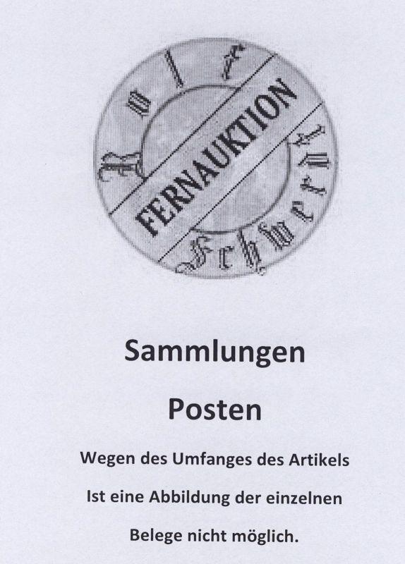 DDR ca. 1955/87 63 Belege mit SSt., dabei einige FDC