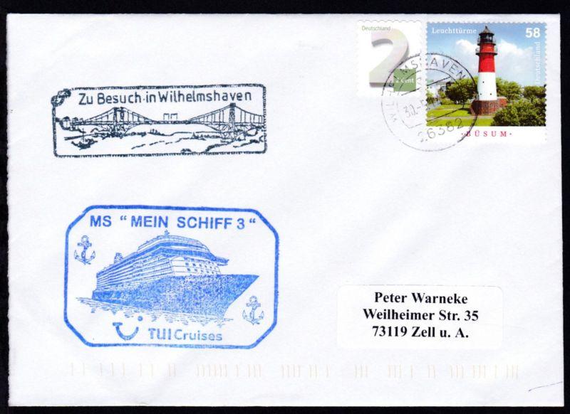 OSt Wilhelmshaven 30.5.14 + Cachet Zu Besuch in Wilhelmshaven + CACHET