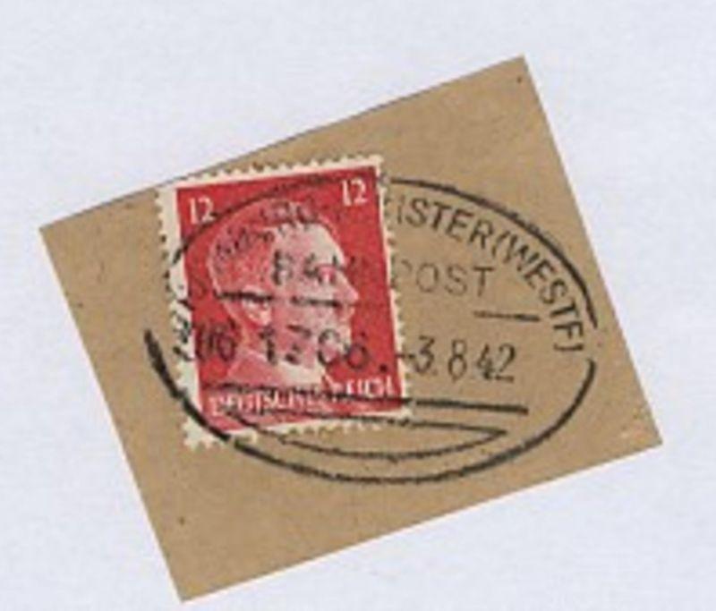 HAMBURG-MÜNSTER (WESTF) ZUG 1706 3.8.42 auf Bf.-Stück