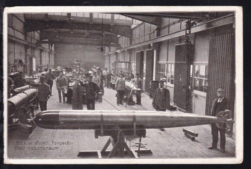 Blick in einen Torpedo-Fabrikationsraum, 1917
