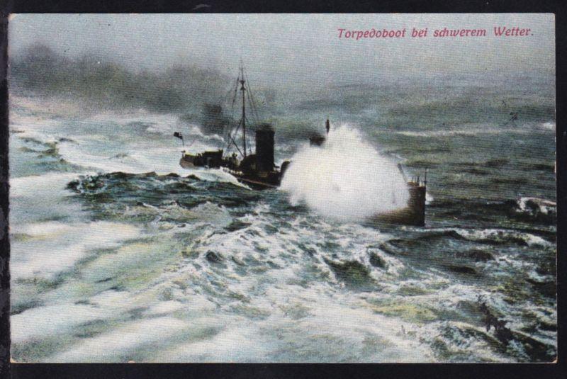 Torpedoboot bei schwerem Wetter, 1914