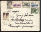 Sommermarken 1950 auf Bf. ab Rotterdam 24.V.1950 nach Miltenberg/Main