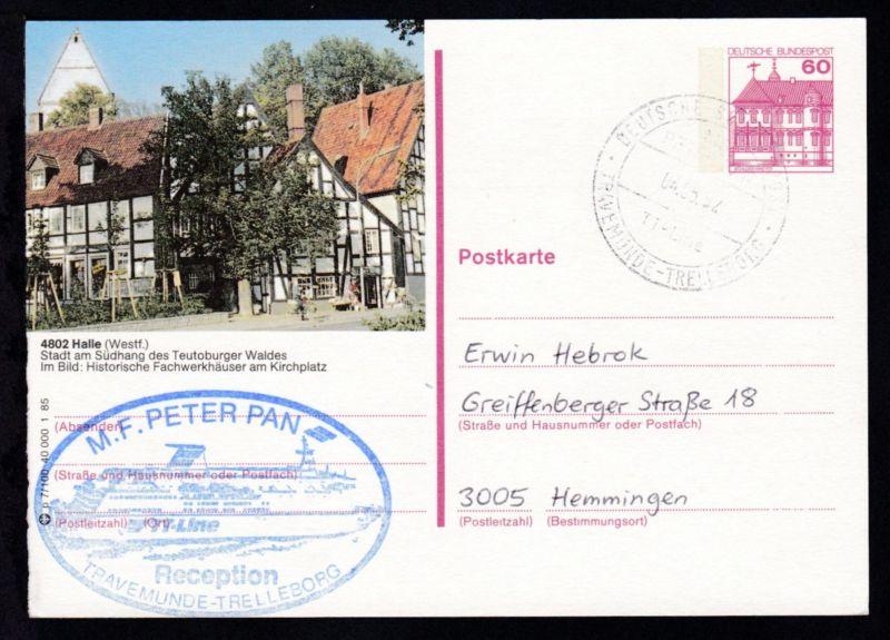 DEUTSCHE SCHIFFSPOST MS PETER PAN TT-Line TRAVEMÜNDE-TRELLEBORG 04.05.92 +