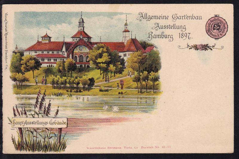 Hamburg cak allgemeine gartenbau ausstellung hambug 1897 for Gartenbau hamburg