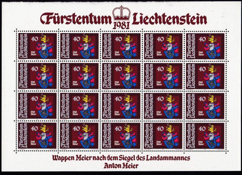 Wappen der Landammänner II, komplette Bögen **