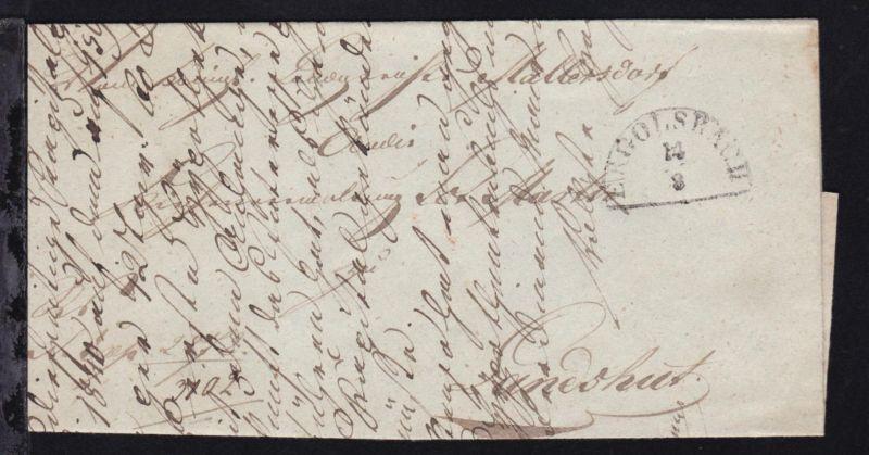 Ergolsbach 1846 Halbkreisstempel ERGOLSBACH 14.3. auf Brief nach Landshut
