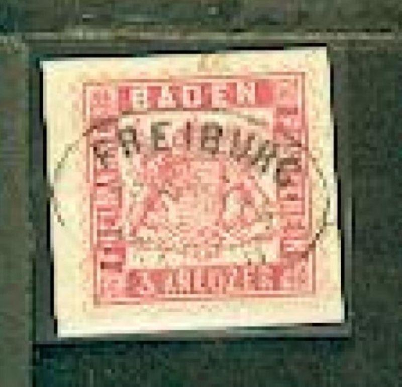 3 Kr. auf Bf.-Stück mit Stpl. FREIBURG UMKIRCH POSTABL.
