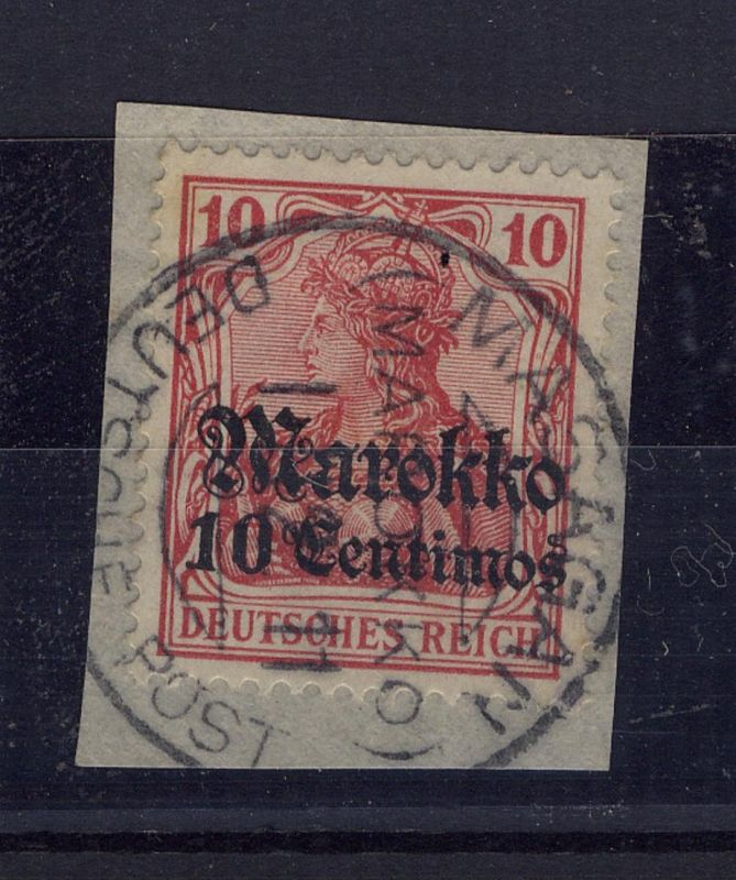 10 C. auf Bf.-Stück mit Stpl. MASAGAN 1.12.11