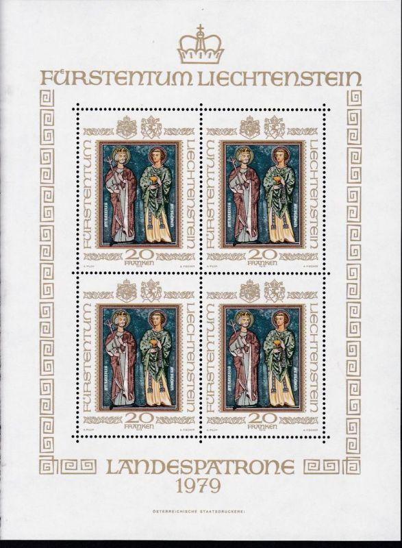 Landespatrone-Kleinbogen,  **