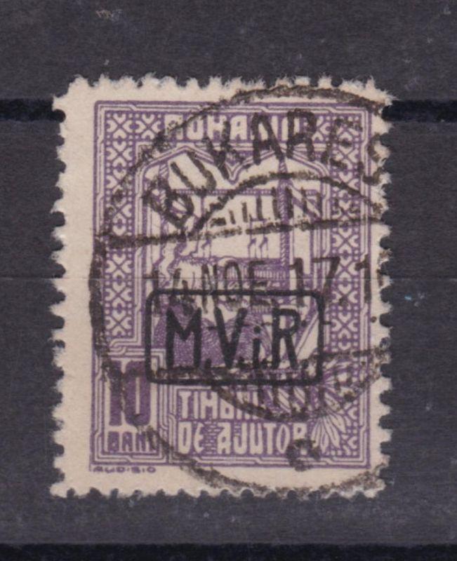 Zwangszuschlagmarke 10 B. mit Aufdruck M.V.i.R.