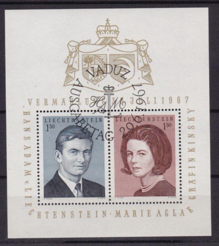 Blockausgabe Hochzeit von Erbprinz Hans-Adam und Gräfin Marie Aglaë Kinsky