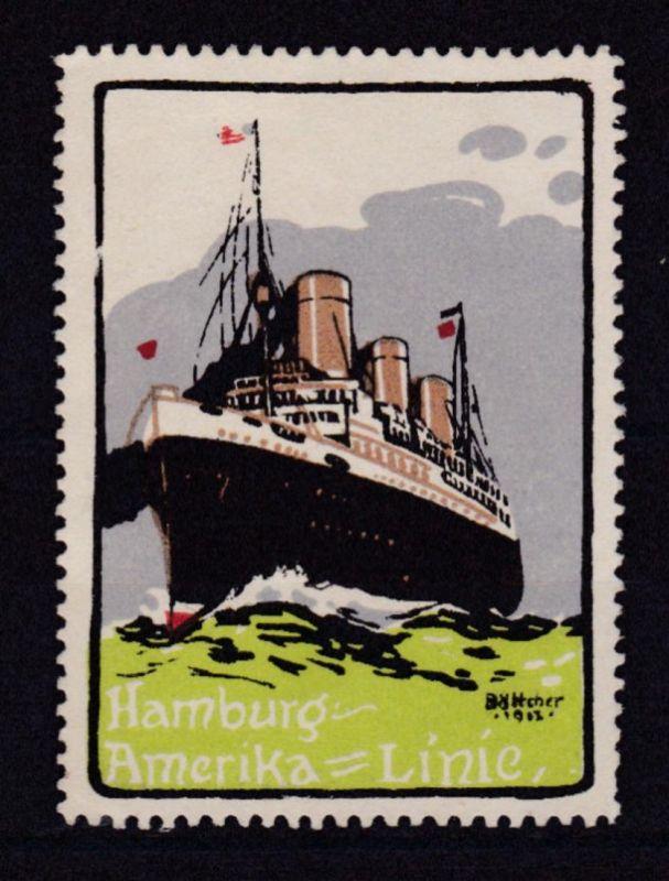 Werbevignette der Hamburg-Amerika-Line, (*)