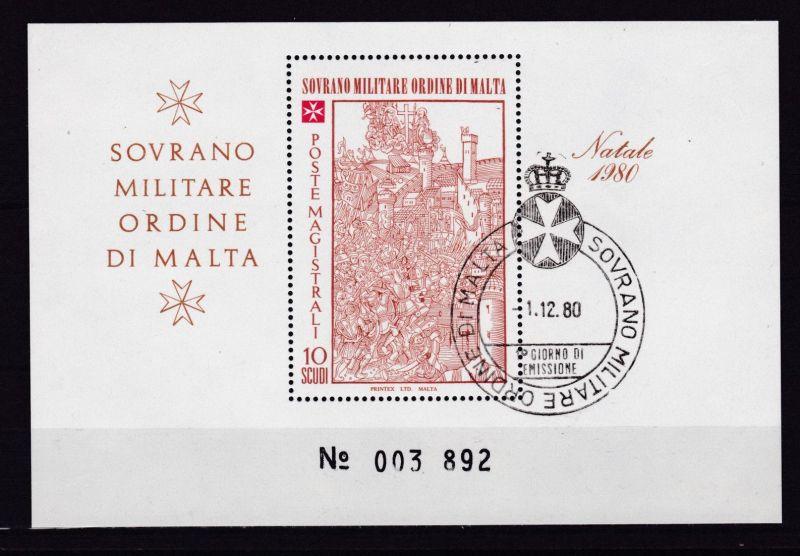 Malteserorden Weihnachten 1980 Blockausgabe