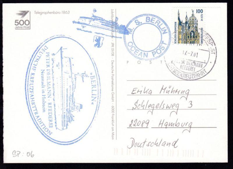 DEUTSCHE SCHIFFSPOST MS BERLIN PETER DEILMANN REEDEREI  OSTSEEKREUZFAHRT