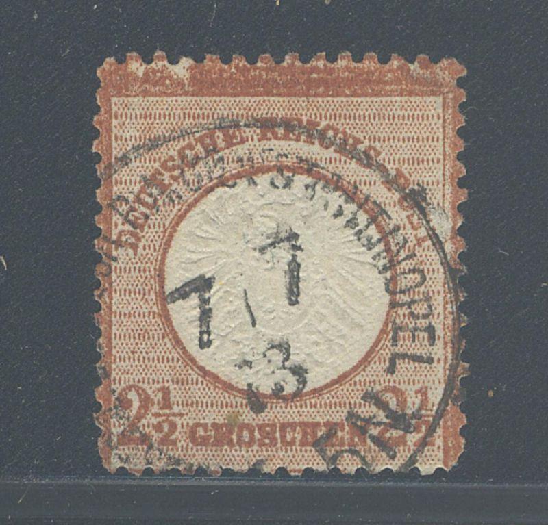 2½ Gr. grosser Schild mit Stempel KAISERL. DEUTSCH. P.A. CONSTANTINOPEL 7.7.73