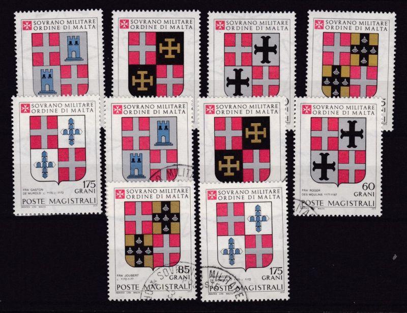 Malteserorden 1979 Wappen der Großmeister , ** + o