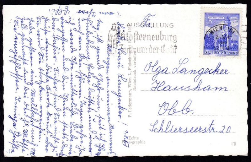 Bauwerke 1,80 S. auf AK (Andenken an Mariazell) ab Wien 2.VIII.1961