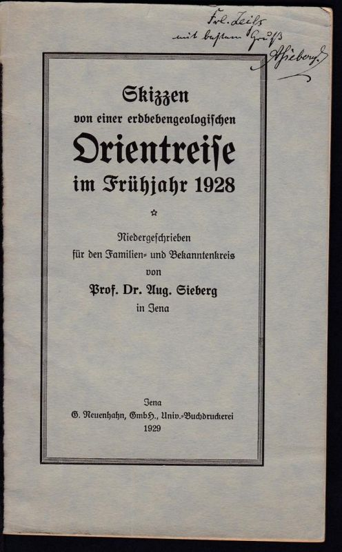 Prof. Dr. Aug. Sieberg