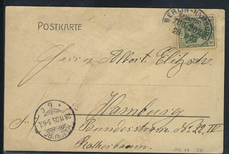 Briefmarken hamburg Blick Von Den Berlin-hamburg Bahnpost Zug 9 4.6.38 Auf Ak Bahnpost