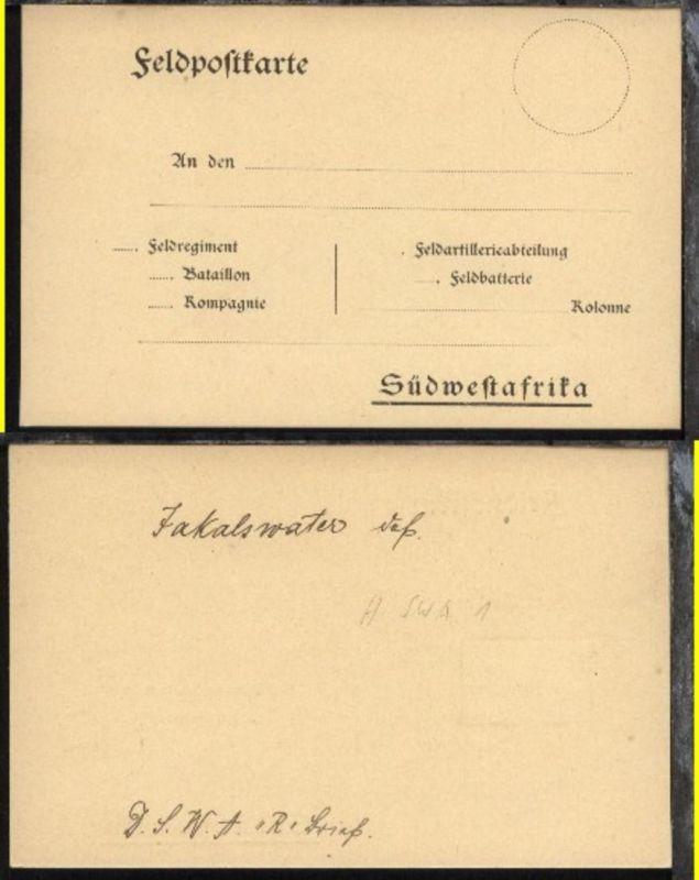 ungebrauchte FP-Vordruck-Kte  (Vogenbeck Nr. 1), Kte rs Vermerke