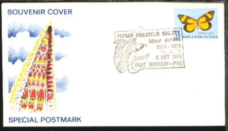 SSt. PAPUAN PHILATELIC SOCIETY Silver Jubilee 1954-1979 6 OCT 1979