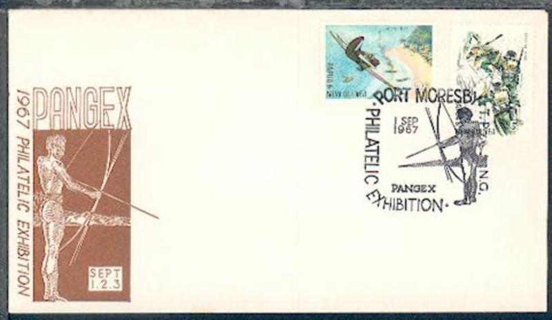 PANGEX 1967 Sonder-Umschlag mit Blanko-SSt. Port Moresby