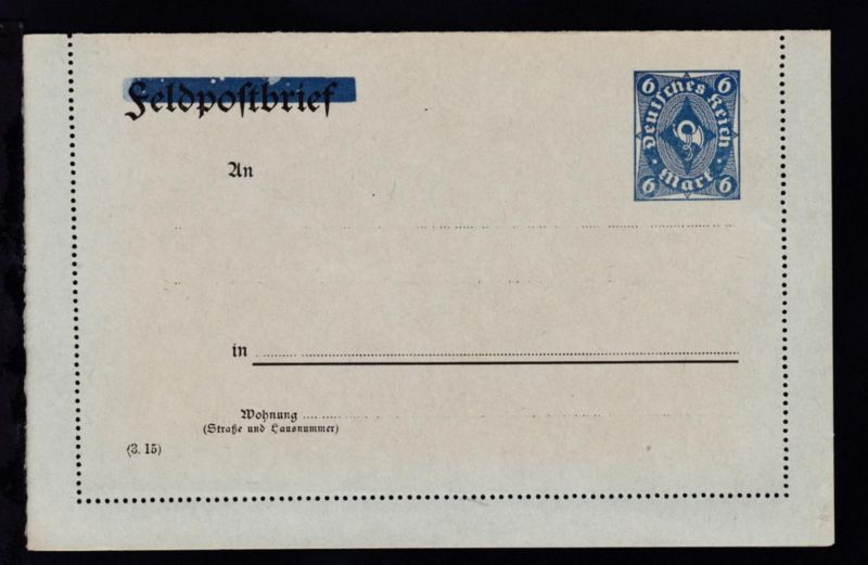 Kartenbrief Posthorn 6 M.