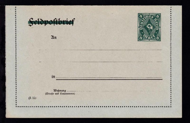 Kartenbrief Posthorn 4 M.
