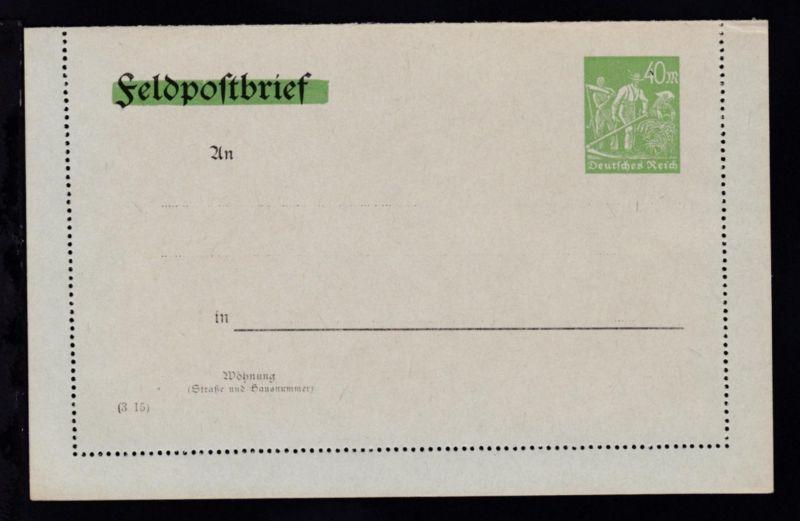Kartenbrief Arbeiter 40 M.