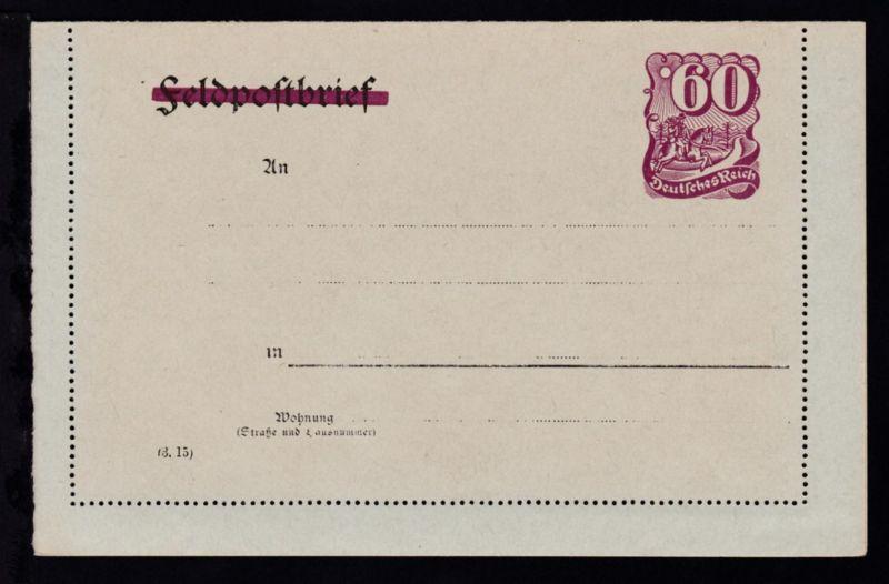 Kartenbrief Postreiter 60 Pfg.