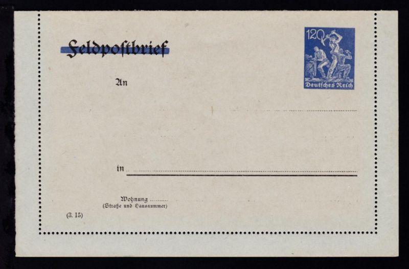 Kartenbrief Arbeiter 120 Pfg.