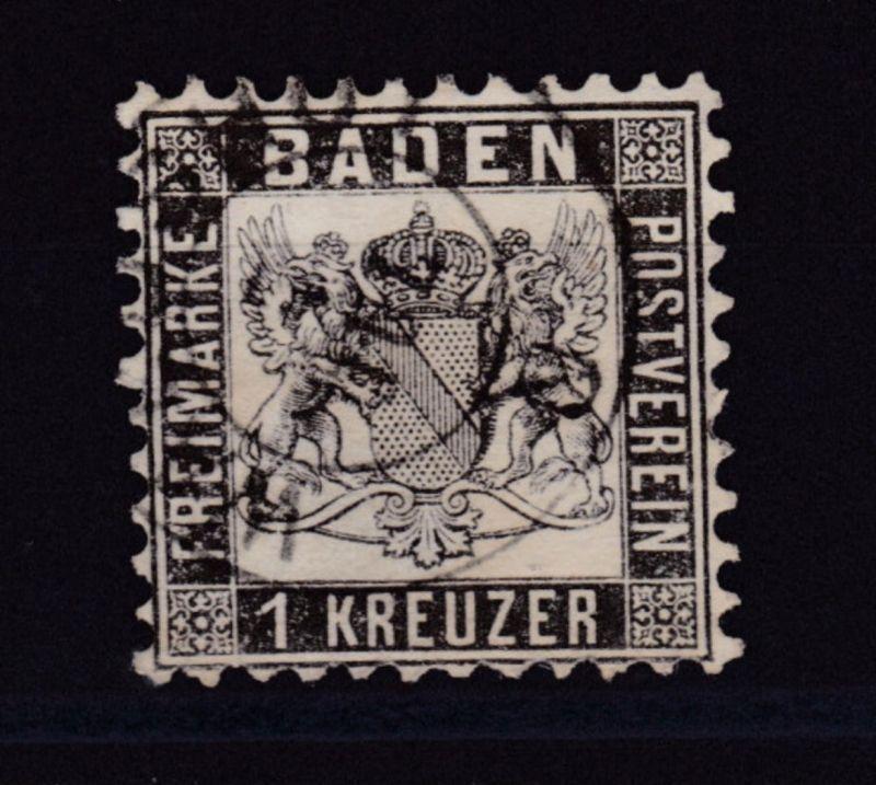 Wappen 1 Kr. mit K2 WALDSHUT 7 JUL