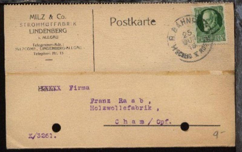 KB BAHNPOST SCHEID I ROETH 25 JUN 18 (Scheidegg-Roethenbach) auf Firmen-PK