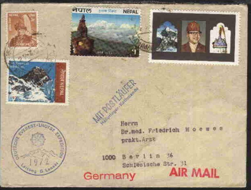 Lupo-Bf. ab Katmandu 22.3.72 nach Berlin mit K1 DEUTSCHE EVEREST-LHOTSE  EXPEDIT