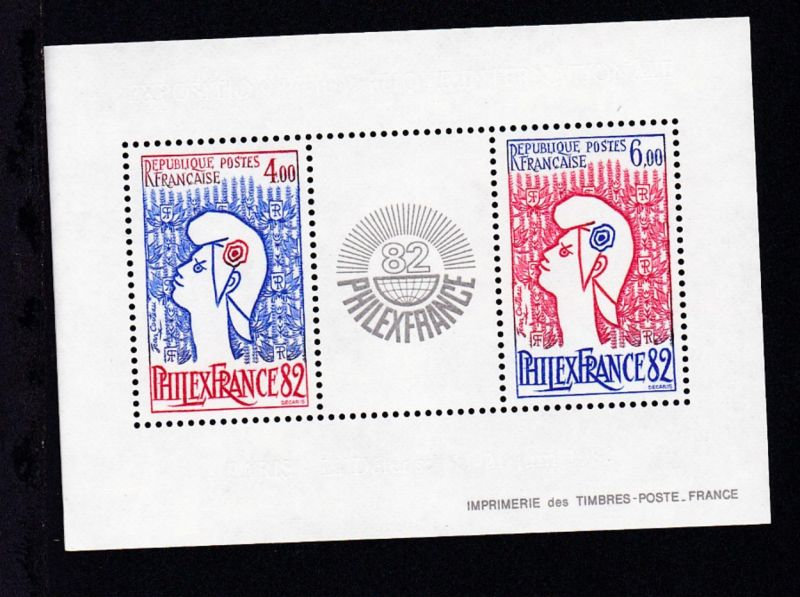 Internationale Briefmarken-Ausstellung PHILEXFRANCE '82 Paris, **
