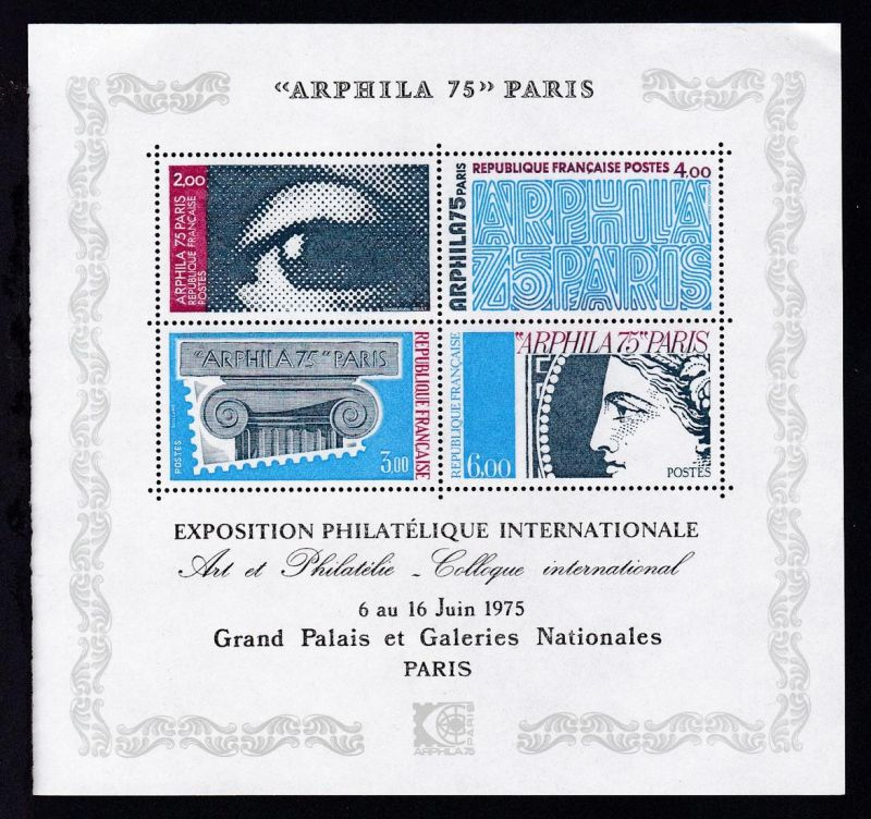 Internationale Briefmarken-Ausstellung ARPHILA '75 Paris, **